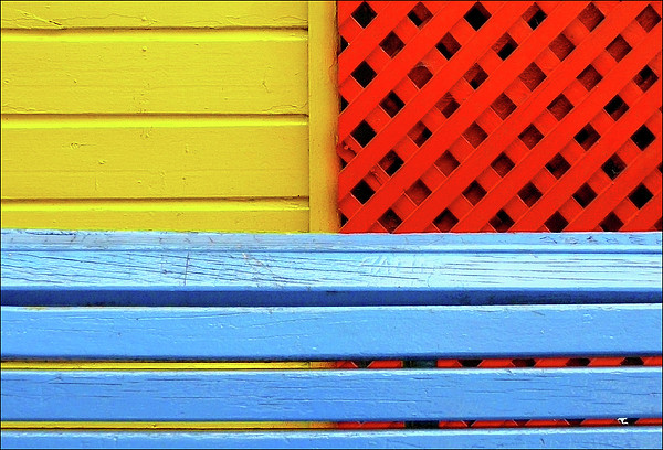 Wood And Colors Print by by Felicitas Molina