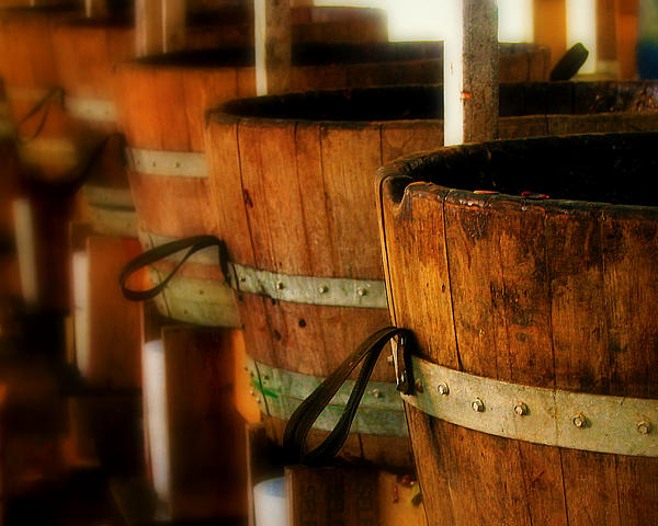 Wood Barrels Print by Perry Webster