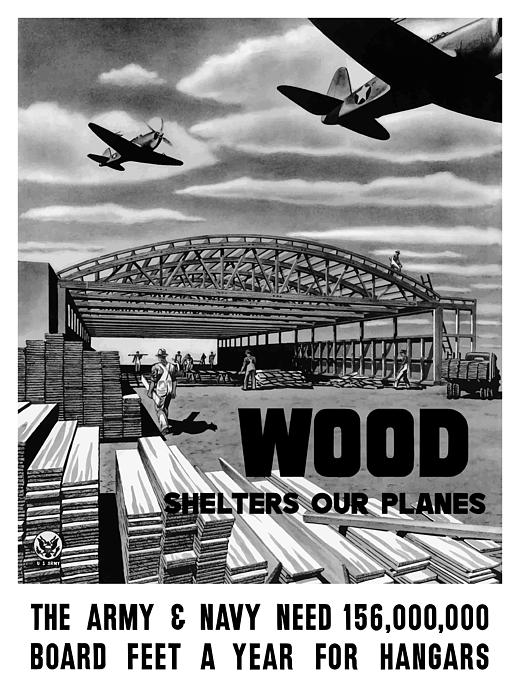 Wood Shelters Our Planes Print by War Is Hell Store