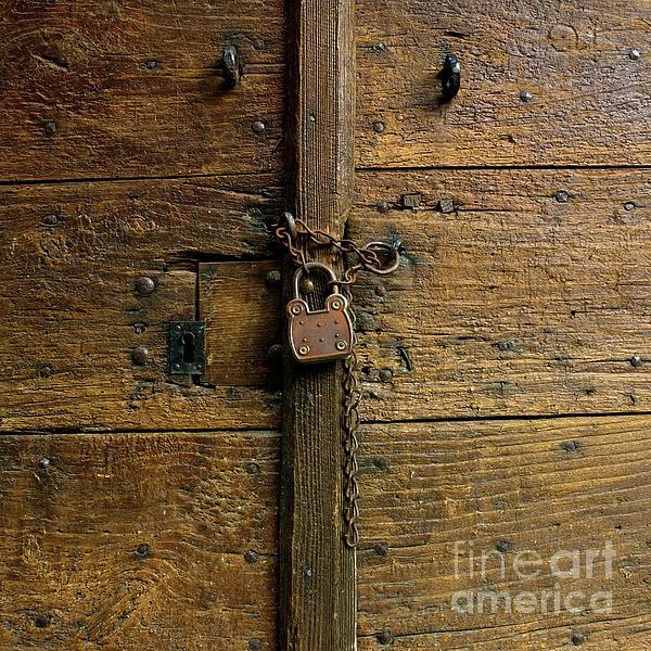 Wooden Door Print by Bernard Jaubert
