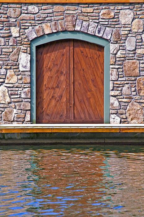 Wooden Door Print by Susan Leggett