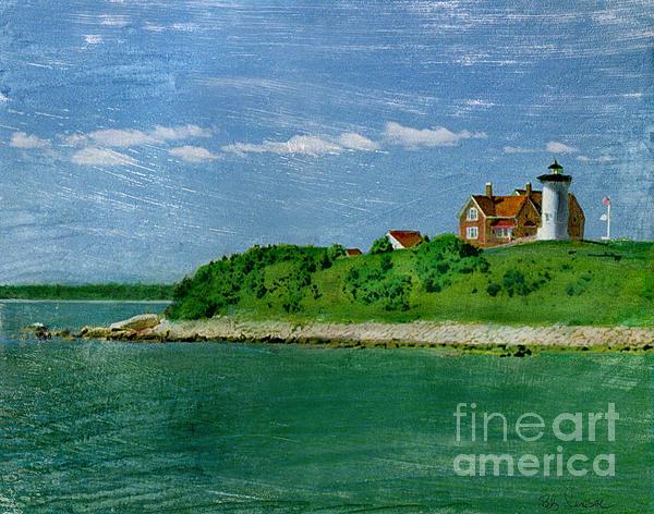Woods Hole Lighthouse Print by Bob Senesac
