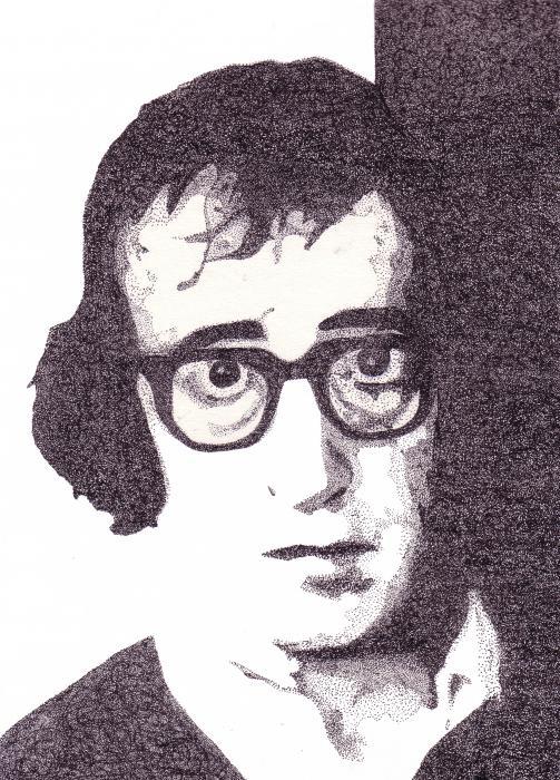 Woody Allen Print by Lynnda Rakos