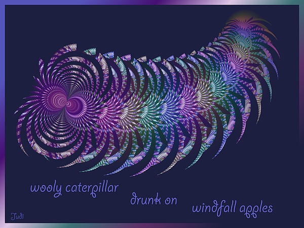 Judi Suni Hall - Wooly Caterpillar Haiga