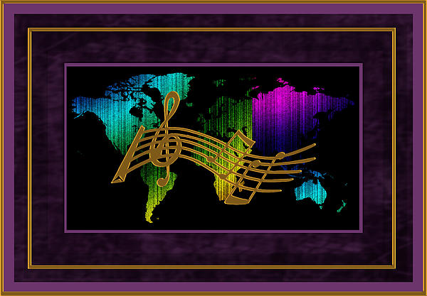 World Map Music Print by Daryl Macintyre