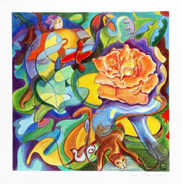 World Of The Rose Print by Monika Kretschmar