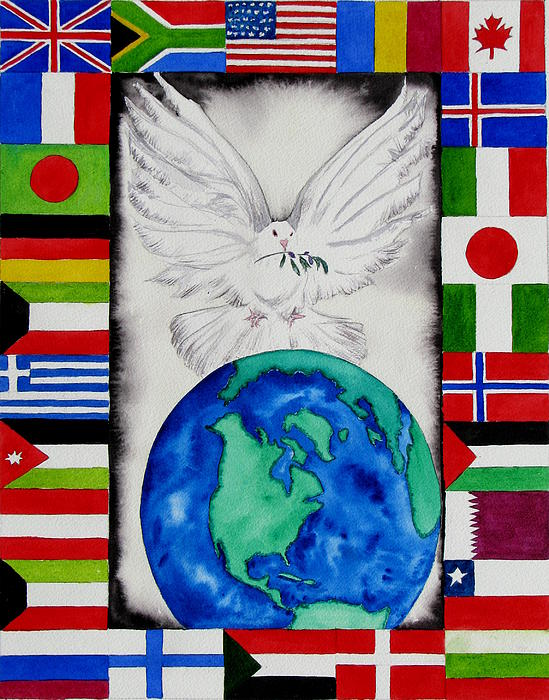 World Peace Print by Maria Barry