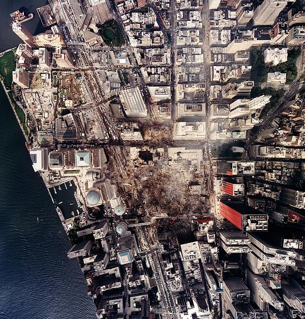 World Trade Center, Aerial Photograph Print by Everett