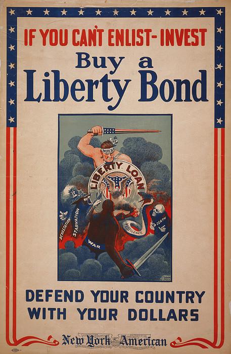 World War I, Poster Showing Figure Print by Everett