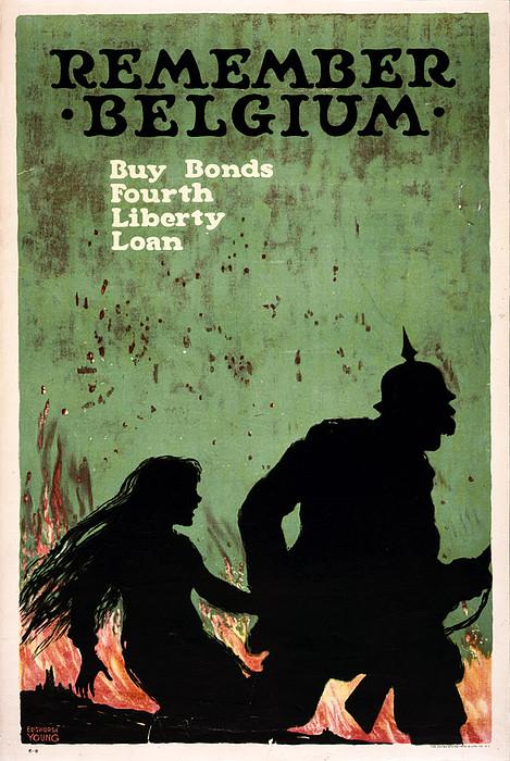 World War I, Poster Showing German Print by Everett