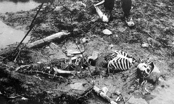 World War I, Skeleton Of A Dead German Print by Everett