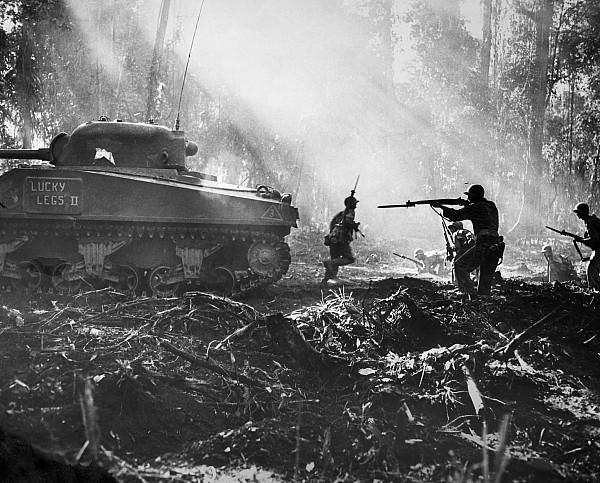 World War II: Bougainville Print by Granger