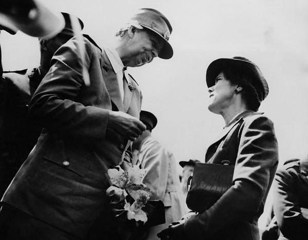 World War II. First Lady Eleanor Print by Everett