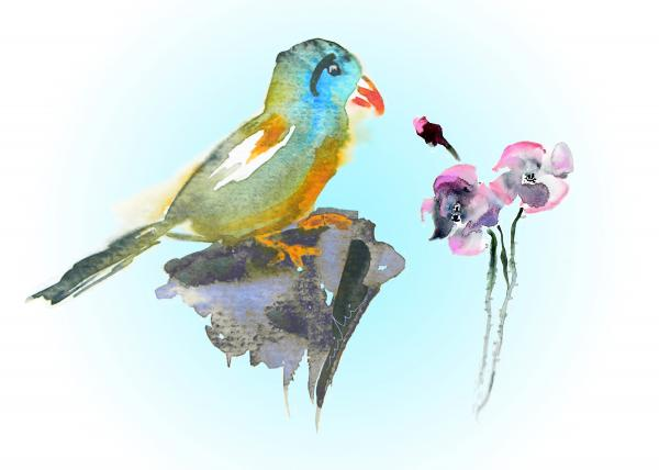 Would You Care To Dance With Me Print by Miki De Goodaboom