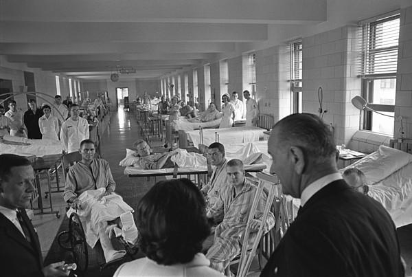 Wounded Vietnam Veterans. President Print by Everett