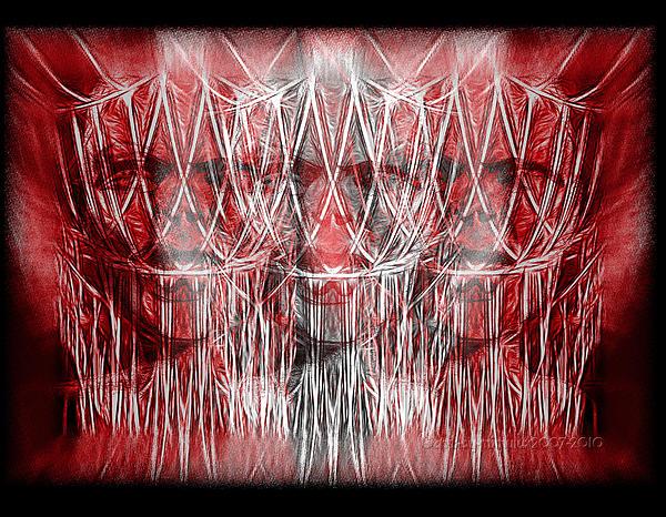 Wrath Threefold Print by Mimulux patricia no