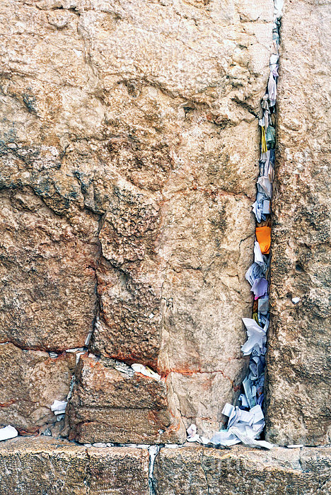 Written Prayers tucked into cracks Western Wall Jerusalem ...