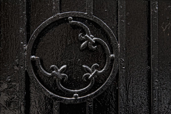 Wrought Iron Design Print by Robert Ullmann
