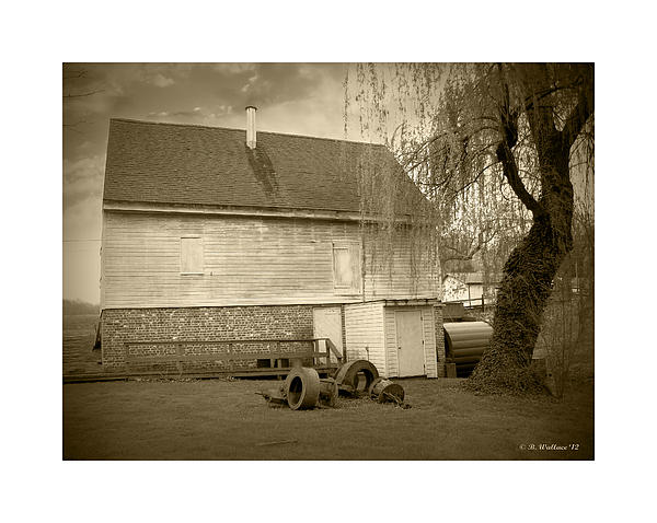 Wye Mill - Sepia Print by Brian Wallace