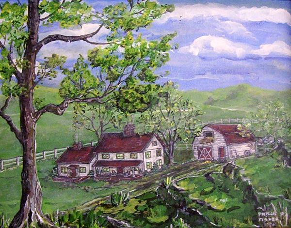 Wyoming Homestead Print by Phyllis Mae Richardson Fisher