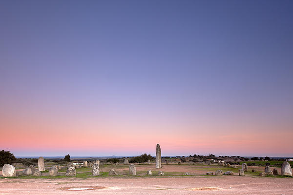 Xarez Cromlech Uring The Sunset Print by Andre Goncalves