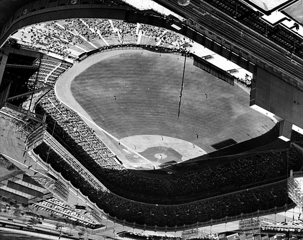 Yankee Stadium On Labor Day. 20,000 Print by Everett