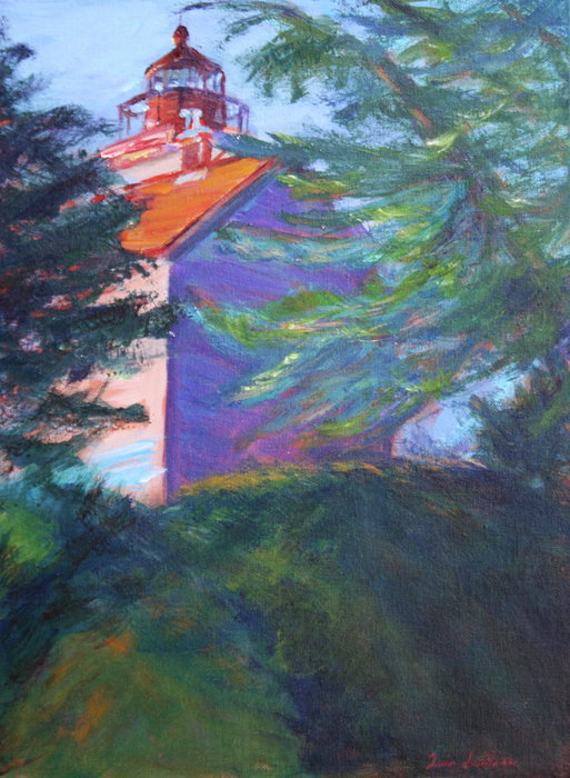 Yaquina Bay Lighthouse  Print by Quin Sweetman