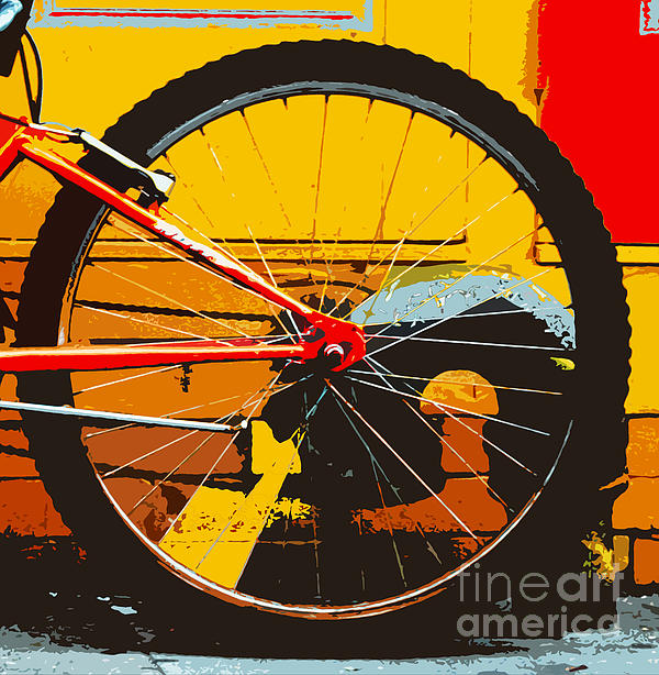 Yellow Biker Dreams Print by Anahi DeCanio
