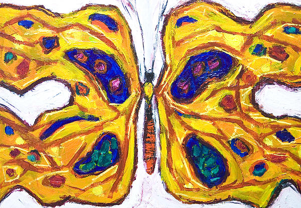 Yellow Butterfly Print by Kazuya Akimoto