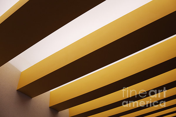 Yellow Ceiling Beams Print by Jeremy Woodhouse