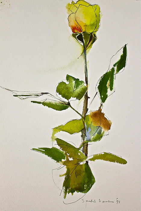 Cliff Spohn - Yellow Rose-Posthumously presented paintings of Sachi Spohn