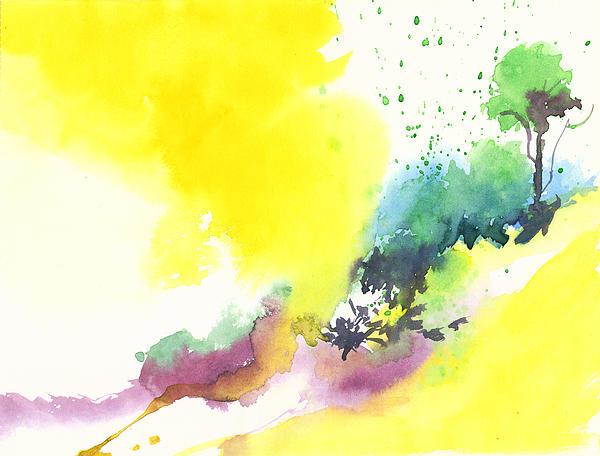 Yellow Sky 2 Print by Anil Nene