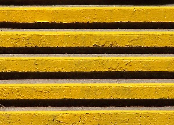 Yellow Steps Print by Steven Huszar