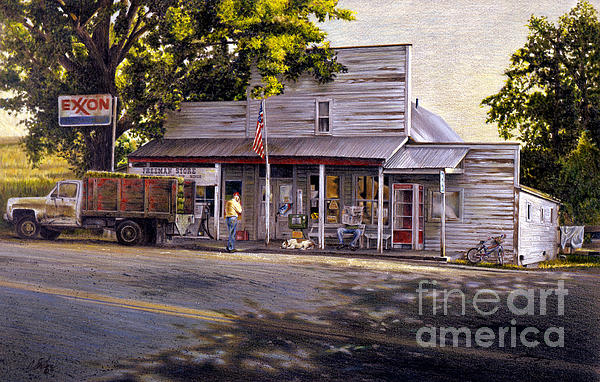 Yellow Sweater Freeman Store Print by Craig Shillam