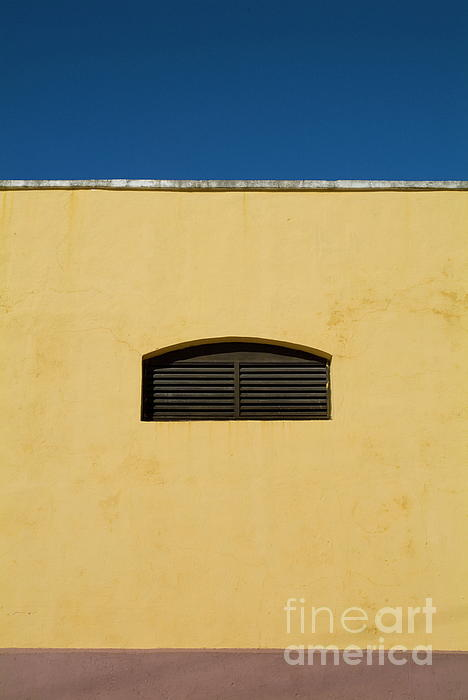 Yellow Wall In Trinidad Print by Sami Sarkis