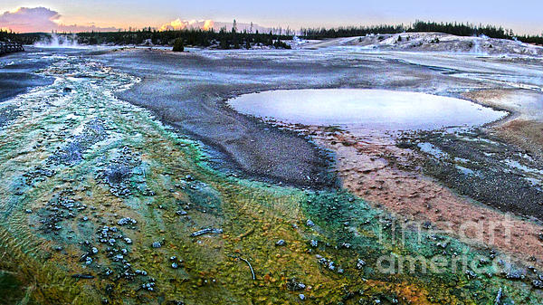 Yellowstone Norris Geyser Basin At Sunset - 04 Print by Gregory Dyer