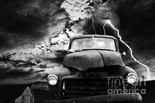 Yesterday Came Early . Tomorrow Is Almost Over . Bw Print by Wingsdomain Art and Photography