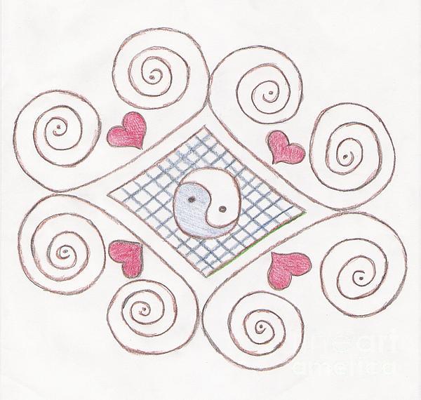 Yin Yang Swirls Pastel Print by Jeannie Atwater Jordan Allen