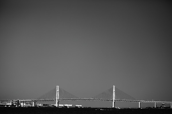 Yokohama Bay Bridge Print by Kiyoshi Noguchi
