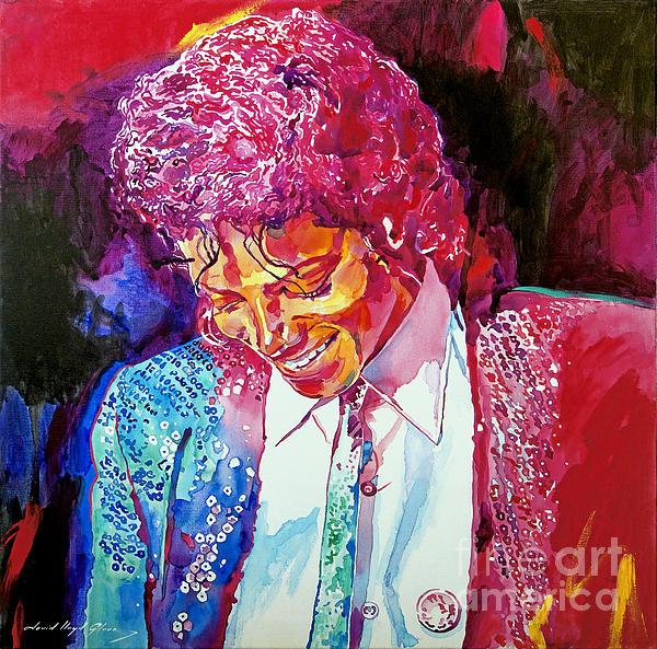 Young Michael Jackson Print by David Lloyd Glover