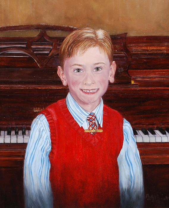 Young Piano Student Print by Phyllis Barrett