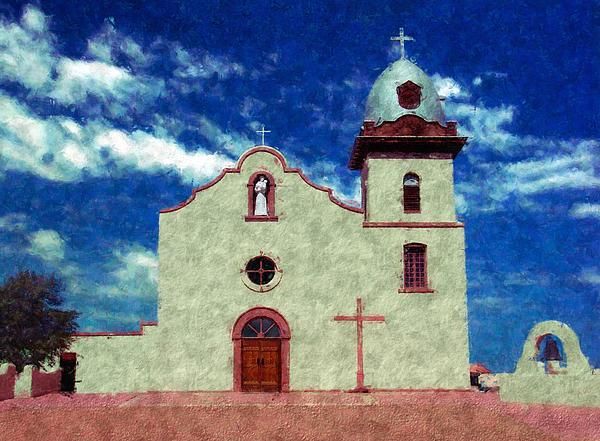 Ysleta Mission Texas Print by Kurt Van Wagner