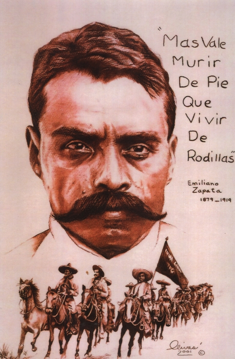Zapata With Riderless Horse Print by Bill Olivas