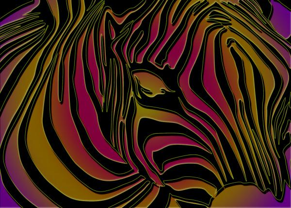 Zebra Abstract Print by Dania Reichmuth