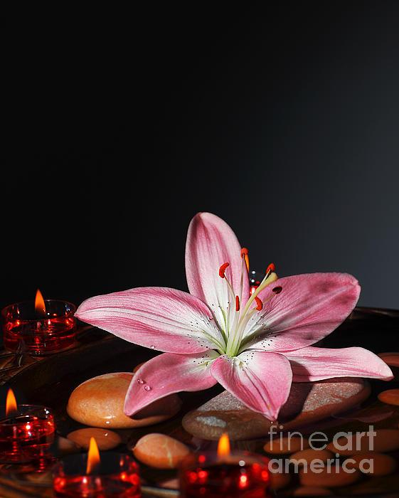 Zen Atmosphere At Spa Salon Print by Anna Omelchenko