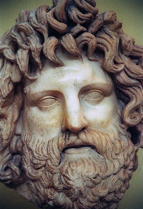 Zeus Head Print by Andonis Katanos