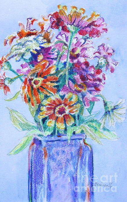 Jan Bennicoff - Zinnias from My Garden