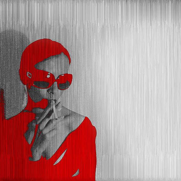 Zoe In Red Print by Naxart Studio