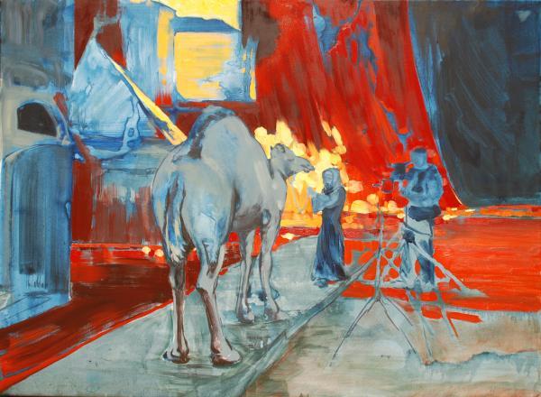 Zohan Camel Print by Amy Bernays
