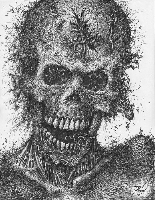 Dan Moran - Zombie Portrait number 4